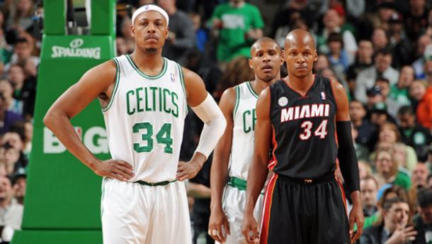 Paul Pierce (34  Celtics) y Ray Allen (34 - Miami)