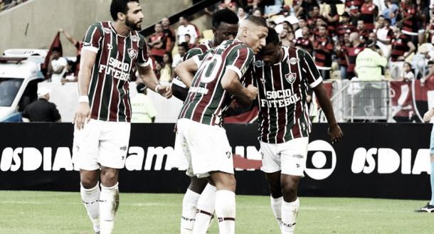 Os dois gols de Wendel com a camisa tricolor foram marcados contra o rival rubro-negro (Foto: Nelson Perez/FFC)