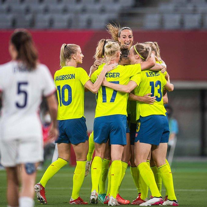 Celebración de Suecia en los Juegos Olímpicos // Fuente: Selección de Suecia