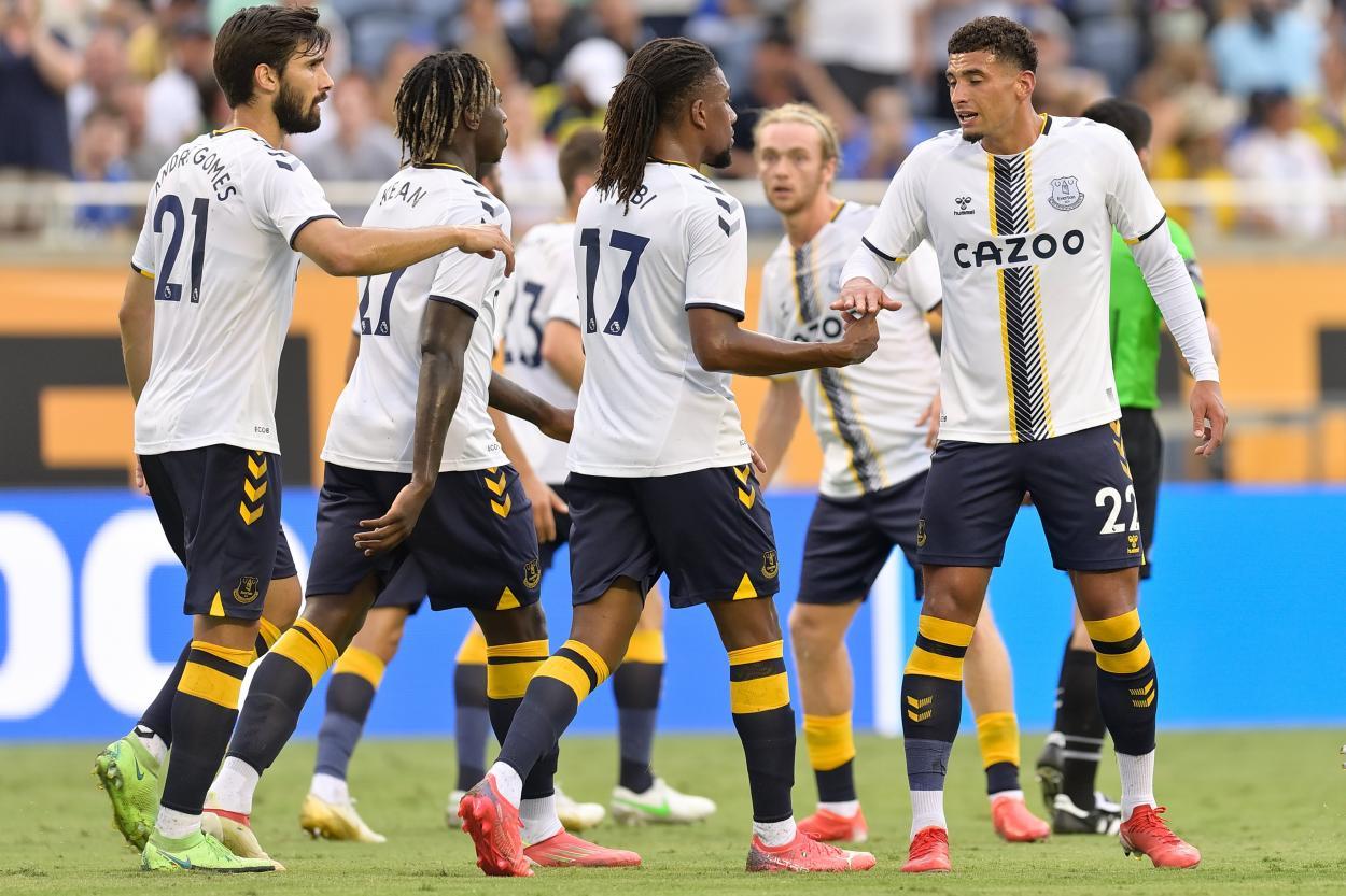 Foto de la celebración de un gol del Everton // Fuente: Everton FC