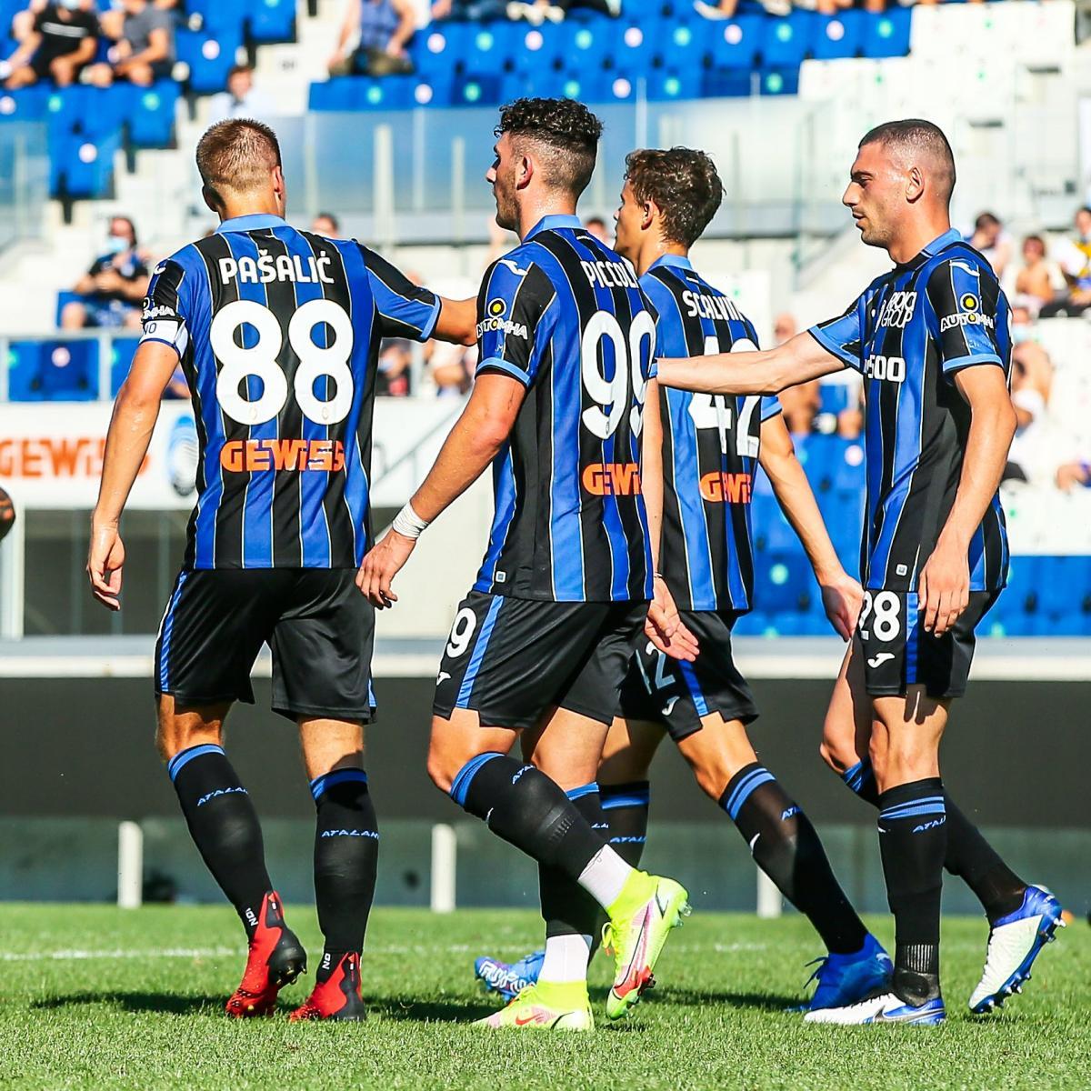 Foto de una celebración de gol del Atalanta // Fuente: Atalanta