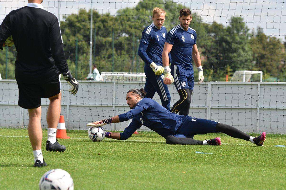 Foto del entrenamiento de los porteros del Fulham // Fuente: Fulham FC