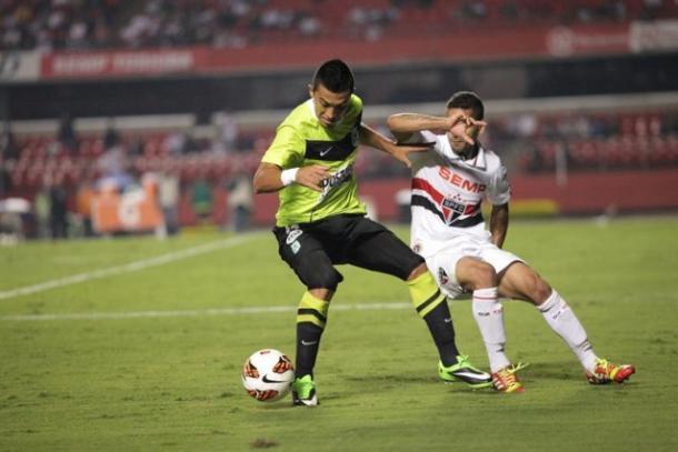 Atlético Nacional no pudo remontar el 2-3 de la ida y terminó eliminado. | Foto: Globo Esporte
