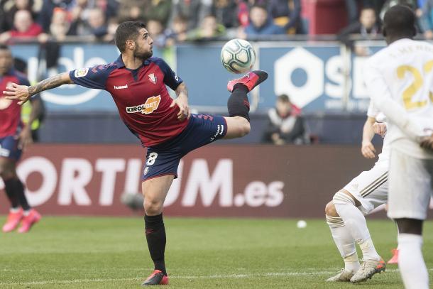 Fran Mérida ante el Real Madrid | Fuente: Osasuna