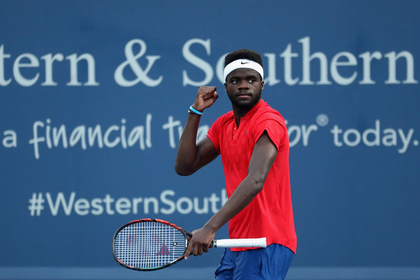 Photo Source: Rob Carr/Getty Images North America-Frances Tiafoe celebrates his break in his match against Alexander Zverev.