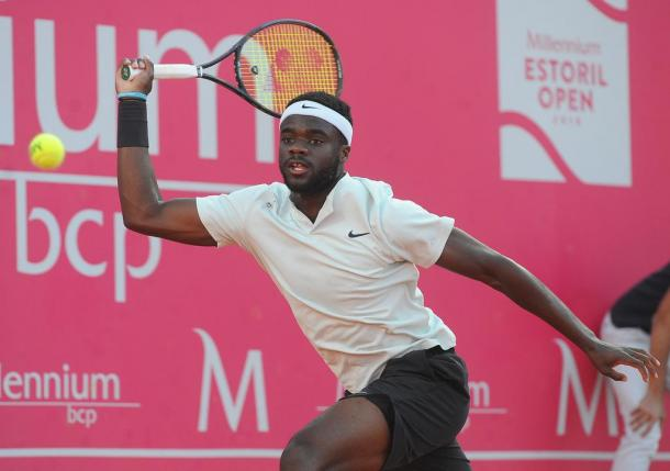 Frances Tiafoe during his match against Pablo Carreño Busta (Photo by Millennium Estoril Open)