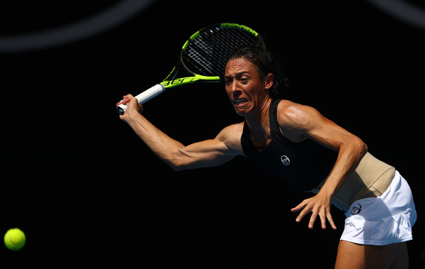 Francesca Schiavone reaches out for a forehand | Photo: Cameron Spencer/Getty Images AsiaPac
