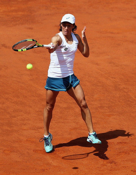 Francesca Schiavone in action in Rome. Photo: Matthew Lewis/Getty Images