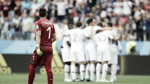 Francia celebra la clasificación. Foto: FIFA.