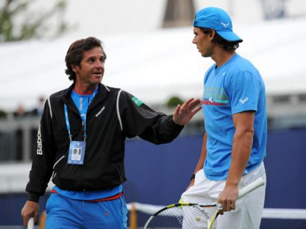 Francisco Roig coaches Rafael Nadal at the 2011 Aegon Championships in London/Getty Images