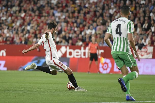 Franco Vázquez puso a los locales por delante en el marcador | Foto: Sevilla FC