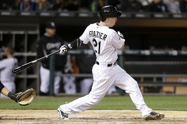 Todd Frazier getting a hit at home field at US Cellular Field (Source: Mike McGinnis/Getty Images North America)