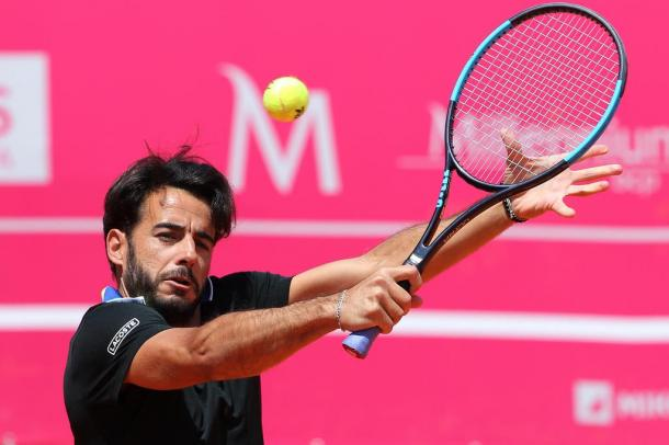 Fred Gil en route to the last round of the qualifying draw. (Photo by Millennium Estoril Open)