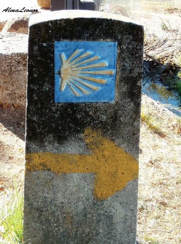Miliario en el Camino de Santiago entre Fromista y Carrión de los Condes (Palencia). Imagen: AlmaLeonor (VAVEL).