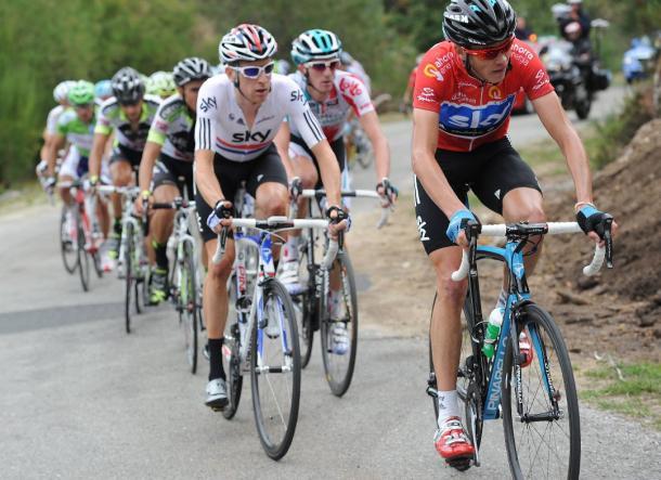 Froome con su único jersey de líder de La Vuelta | Fuente: Graham Watson