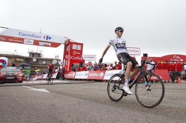 Froome llevándose la úndecima etapa | Fuente: Javier Belver - Unipublic