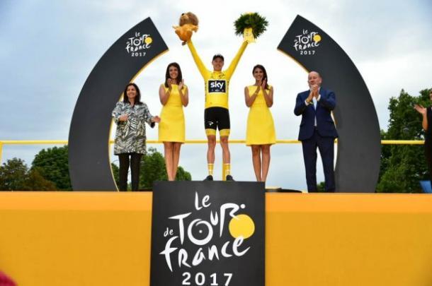 Froome con el maillot amarillo en París | Fuente: Pauline Ballet - ASO