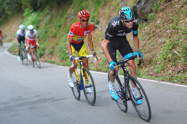 Froome al ataque en La Vuelta 2014 | Fuente: Tim de Waele