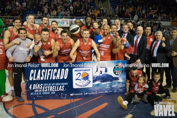 Montakit Fuenlabrada celebra la clasificación. Foto: Jon Imanol Reino (VAVEL)
