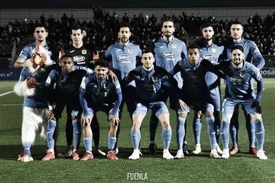 Once titular del CF Fuenlabrada en un partido de la temporada 2019-2020 en Segunda División. Foto: CF Fuenlabrada.