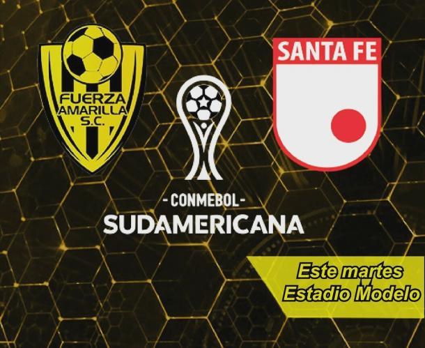 Fuerza Amarilla recibe hoy a Santa Fe, por la Copa Sudamericana