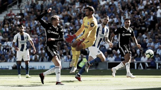 Fulham igualó en dos frente al Brighton. Foto: Premier League.
