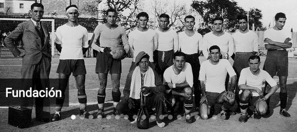 Uno de los primeros equipos del Villarreal CF. Fuente: villarreal.com