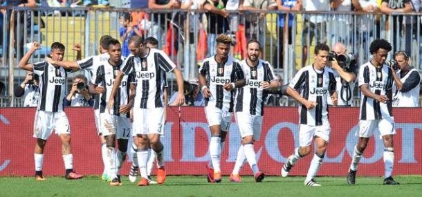La Juventus festeggia il successo di Empoli | Foto: lastampa