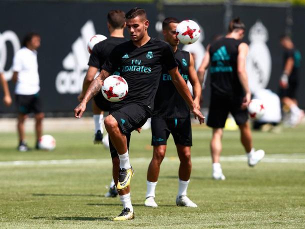 Theo en su primer entrenamiento,Fuente: www.realmadrid.com