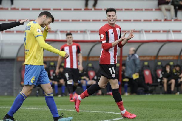 Jon Morcillo durante un partido en Lezama    Foto: Web oficial del Athletic Club