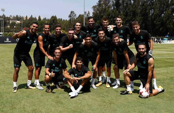 Plantila del Real Madrid en EEUU | Fuente: www.realmadrid.com