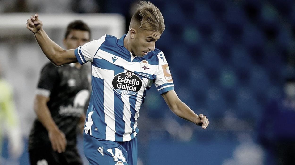 Gandoy en su primer partido contra el Salamanca. Foto: lavozdegalicia.es