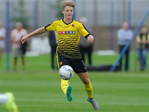 Byers in action for Watford. | Image credit: Watford FC
