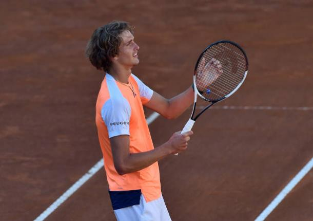 Zverev celebrates after winning his first Masters 1000 title in Rome (Getty/Giuseppe Bellini)