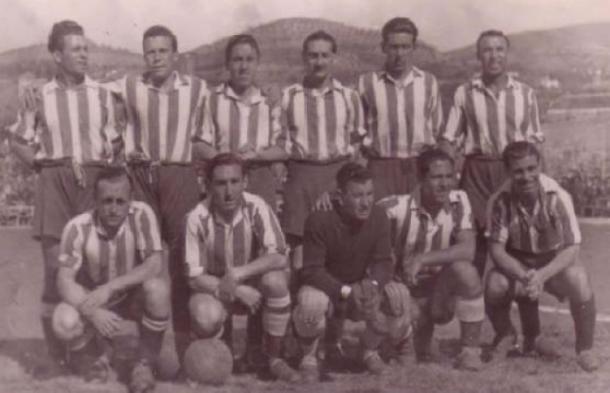 Once del Granada en la temporada 40/41, ascenso a Primera   Foto: Archivo Granada CF