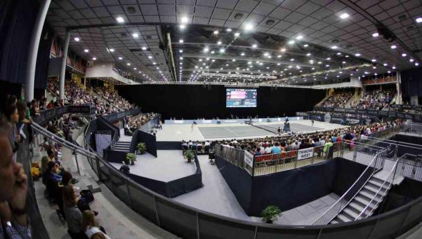 The tournament takes place at the TipsArena, seen here at last year's edition. Photo: GEPA Pictures