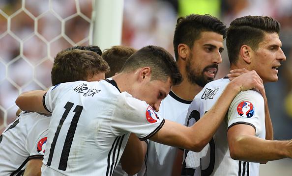 Team effort - Germany ran rampant against a sorry Slovakia. | Image credit: PATRIK STOLLARZ/AFP/Getty Images