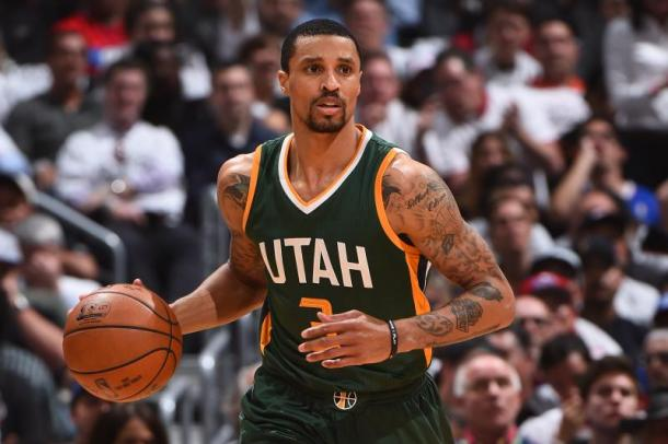 George Hill will look to be the leader for the young Kings team. Photo: Andrew D. Bernstein/Getty Images