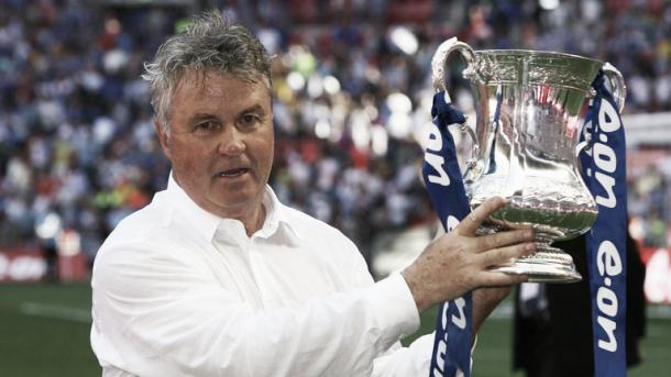 Hiddink has previous success in the FA Cup. | Image Source - The Telegraph