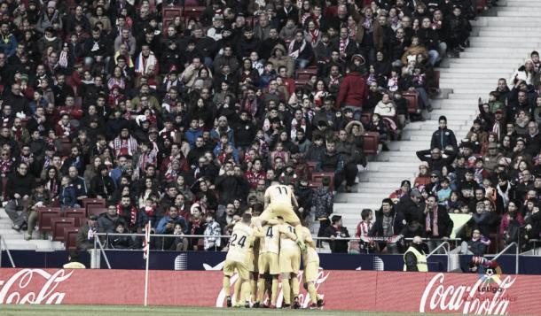 Celebración del Girona FC tras el 1-1 | LFP