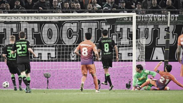 Así fue el gol de Silva que dio el empate frente al Monchengladbach | Foto: ManCity