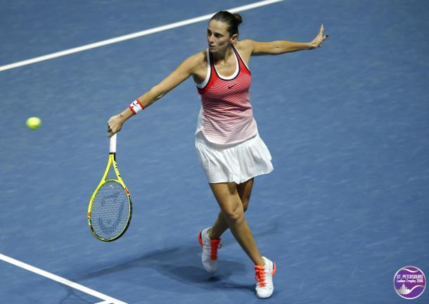 Roberta Vinci looks to defend her title here | Photo: WTA St. Petersburg Ladies Trophy