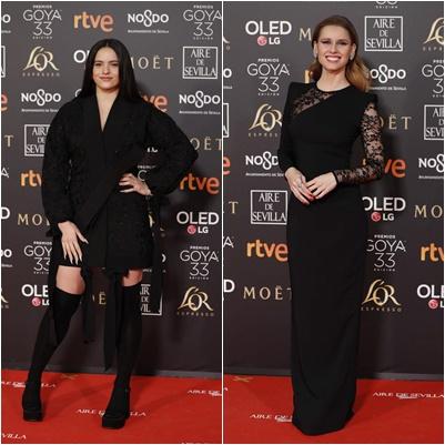 Rosalía y Manuela Vallés, desacierto con su color negro | Foto: