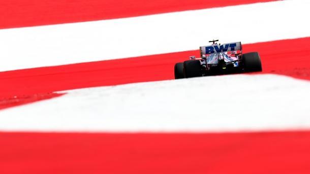Uno de los Racing Point en los FP3. Fuente: F1