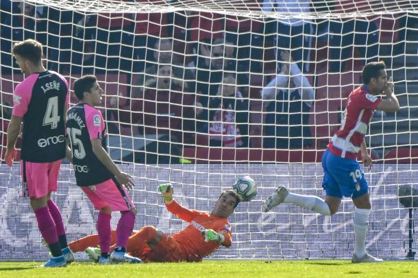 Montoro tras marcar su gol   Foto: Jesús Jiménez / Photographer Sports