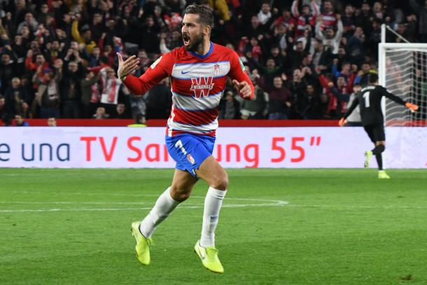 Vadillo celebra su gol | Foto: Jesús Jiménez / Photographers Sports