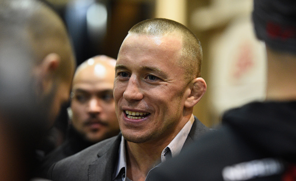 GSP is here at UFC 196   Photo: UFC
