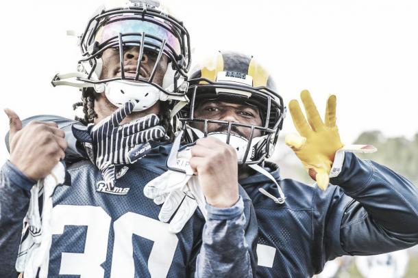 el duo corredon de los Rams, Todd Gurley y CJ Anderson (foto Rams.com)