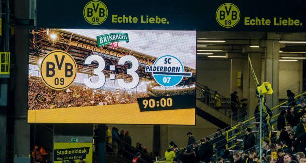 Placar do último confronto entre as equipes | Foto: Divulgação/Borussia Dortmund