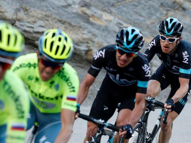 Thomas in action at this year's Paris Nice / Team Sky